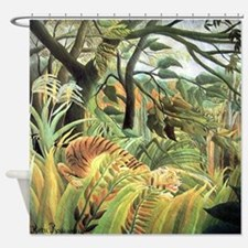Henri Rousseau tiger in a tropical storm Shower Cu