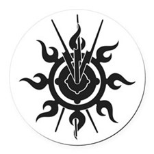 Acheron Symbol Round Car Magnet