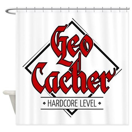 Geocacher - Hardcore Level Shower Curtain
