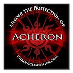 Acheron Protection Square Car Magnet 3