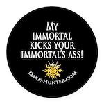 Immortal Round Car Magnet