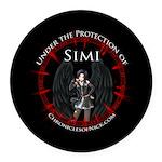 Simi Round Car Magnet