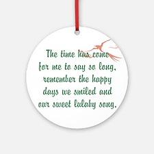 TheEulogyWeb: Lulaby Song design #2 Ornament (Roun