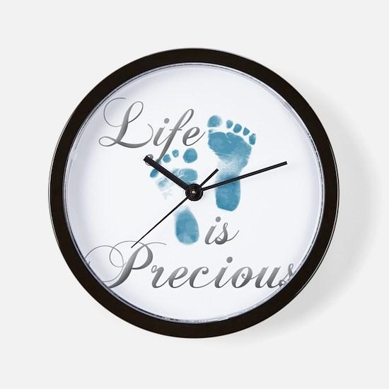 Life is Precious Wall Clock
