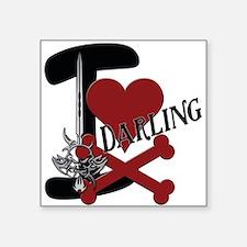 "Darling Square Sticker 3"" x 3"""