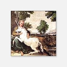 Annibale Carracci Virgin and Unicorn Square Sticke
