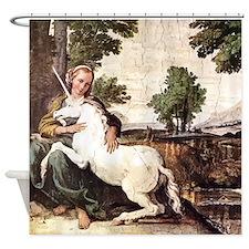 Annibale Carracci Virgin and Unicorn Shower Curtai