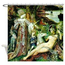 Gustave Moreau Unicorn Shower Curtain