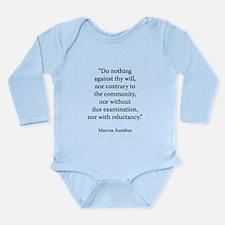 Meditations Book 3 Part 5 Long Sleeve Infant Bodys
