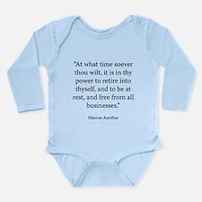 Meditations Book 4 Part 3 Long Sleeve Infant Bodys