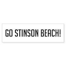 Go Stinson Beach Bumper Bumper Sticker