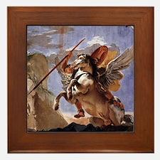 Bellerophon on Pegasus Framed Tile