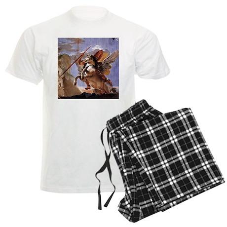 Bellerophon on Pegasus Men's Light Pajamas