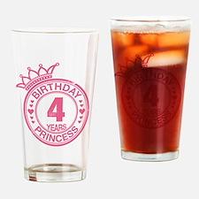 Birthday Princess 4 years Drinking Glass
