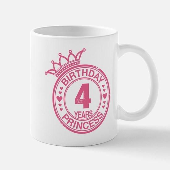 Birthday Princess 4 years Mug