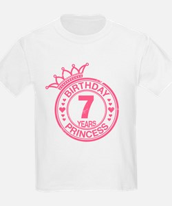 Birthday Princess 7 years T-Shirt