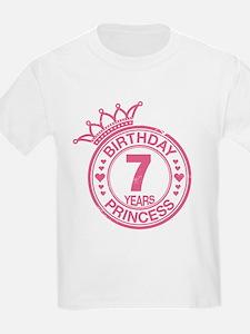 Birthday Princess 7 years T-Shirt