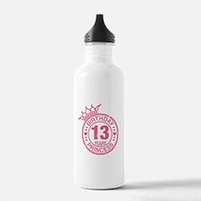 Birthday Princess 13 years Water Bottle