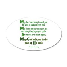 "Irish Blessing ""May the Road"" Wall Decal"