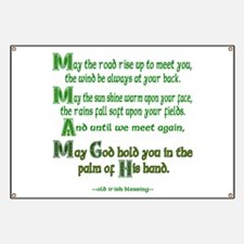 """Irish Blessing """"May the Road"""" Banner"""