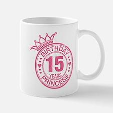 Birthday Princess 15 years Mug