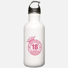 Birthday Princess 18 years Water Bottle