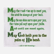 "Irish Blessing ""May the Road"" Throw Blanket"