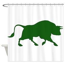 Green Bull Shower Curtain