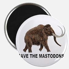 "Save the mastodons 2.25"" Magnet (10 pack)"