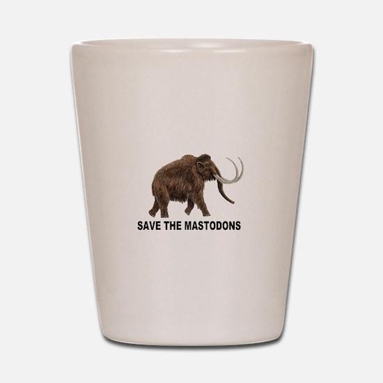 Save the mastodons Shot Glass