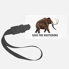 Save the mastodons Luggage Tag
