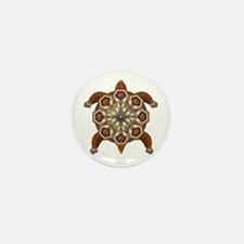 Native American Turtle 02 Mini Button (10 pack)