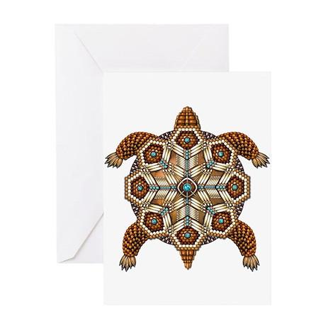 Native American Turtle 02 Greeting Card