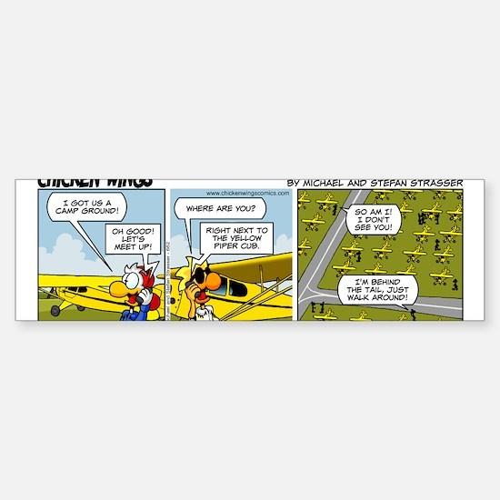 0662 - Yellow Piper Cub Sticker (Bumper)