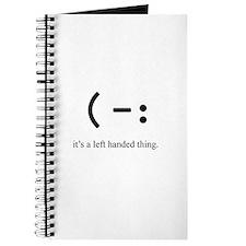 left handed Journal