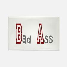 BA Bad Ass Rectangle Magnet
