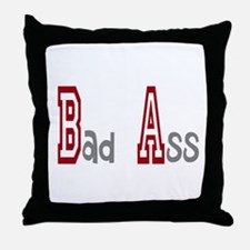 BA Bad Ass Throw Pillow