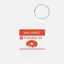 Machinist Powered by Doughnuts Keychains