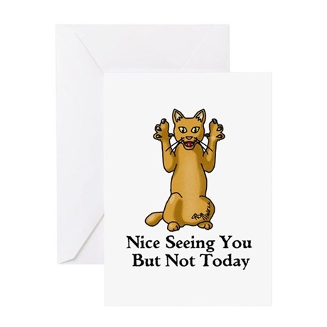 Not Today Greeting Card