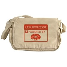 Law Professor Powered by Doughnuts Messenger Bag