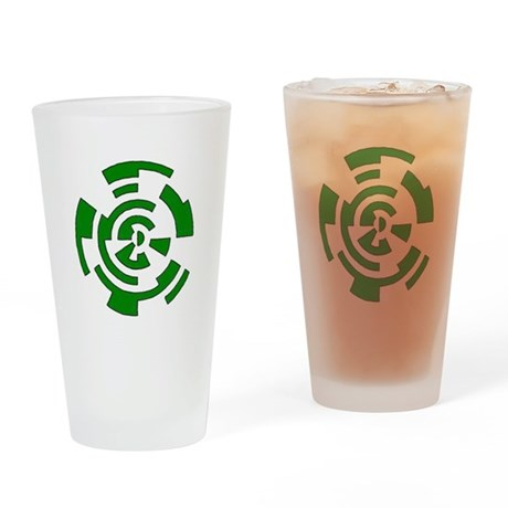 Freehand Concentric Circle Vectors Drinking Glass