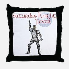 Knight fever Throw Pillow