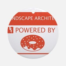 Landscape Architect Powered by Doughnuts Ornament