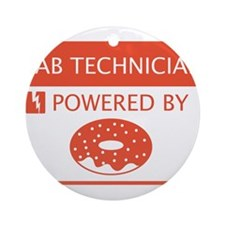 Lab Technician Powered by Doughnuts Ornament (Roun