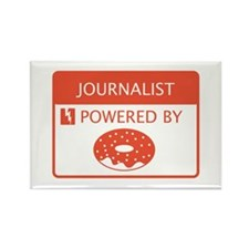 Journalist Powered by Doughnuts Rectangle Magnet
