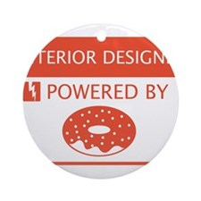 Interior Designer Powered by Doughnuts Ornament (R
