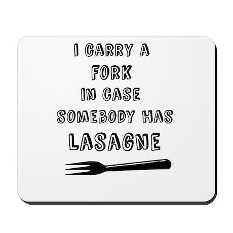 Lasagne Fork Mousepad
