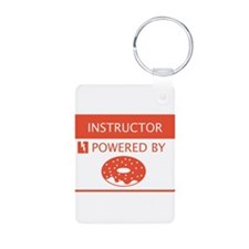 Instructor Powered by Doughnuts Aluminum Photo Key