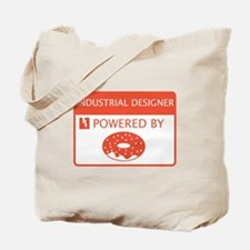 Industrial Designer Powered by Doughnuts Tote Bag