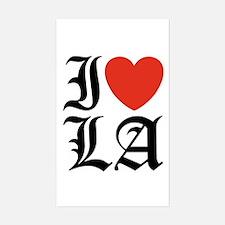 I Love LA Sticker (Rectangle)